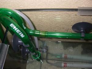 エーハイム シャワーバルブと排水側ホースを接続