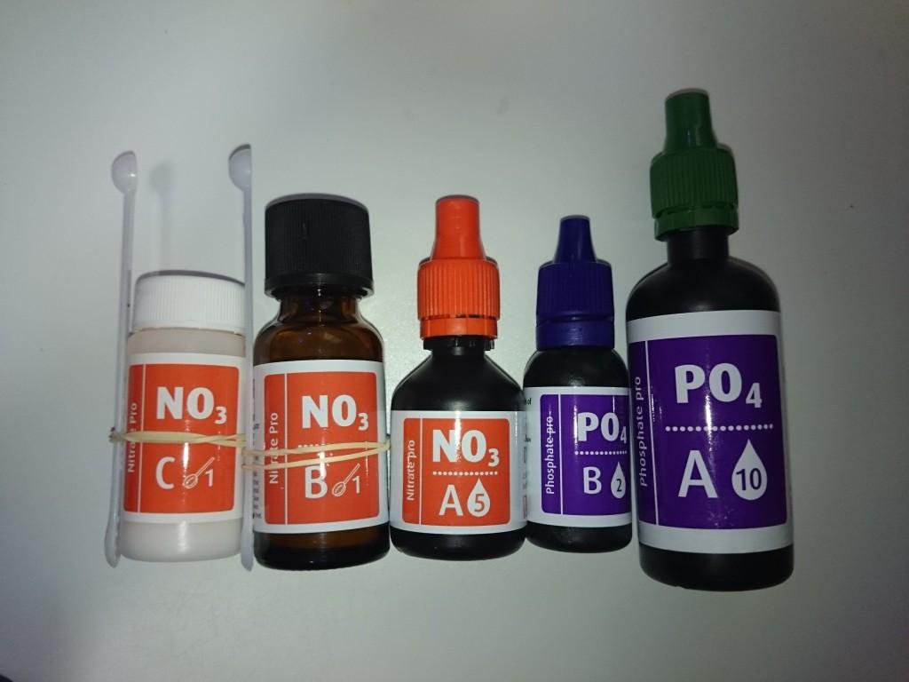 レッドシー アルジーコントロールテストキットに入っている5種類の試薬