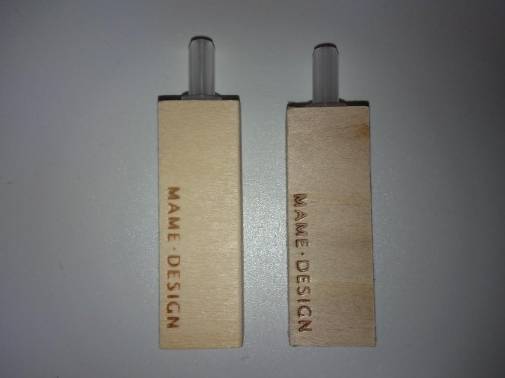 マメウッドストーン 再生したウッドストーンと新品の比較