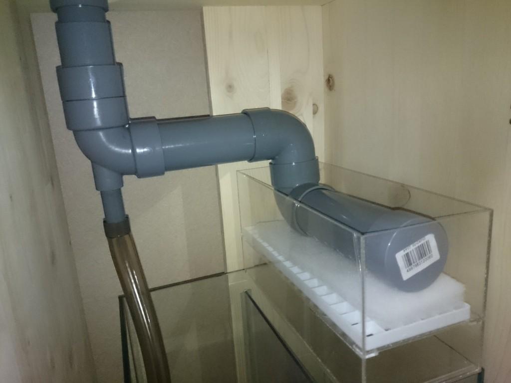OF水槽 ウールボックスシャワーパイプ回りの配管 仮組