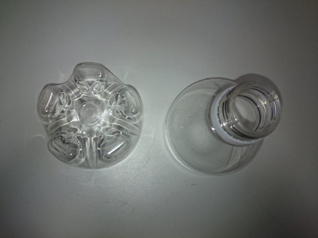 ペットボトルスキマー自作 汚水受けカップの作成1