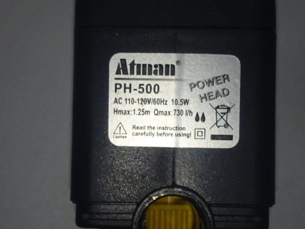Coral Box(コーラルボックス) S150 付属ポンプ Atman PH-500