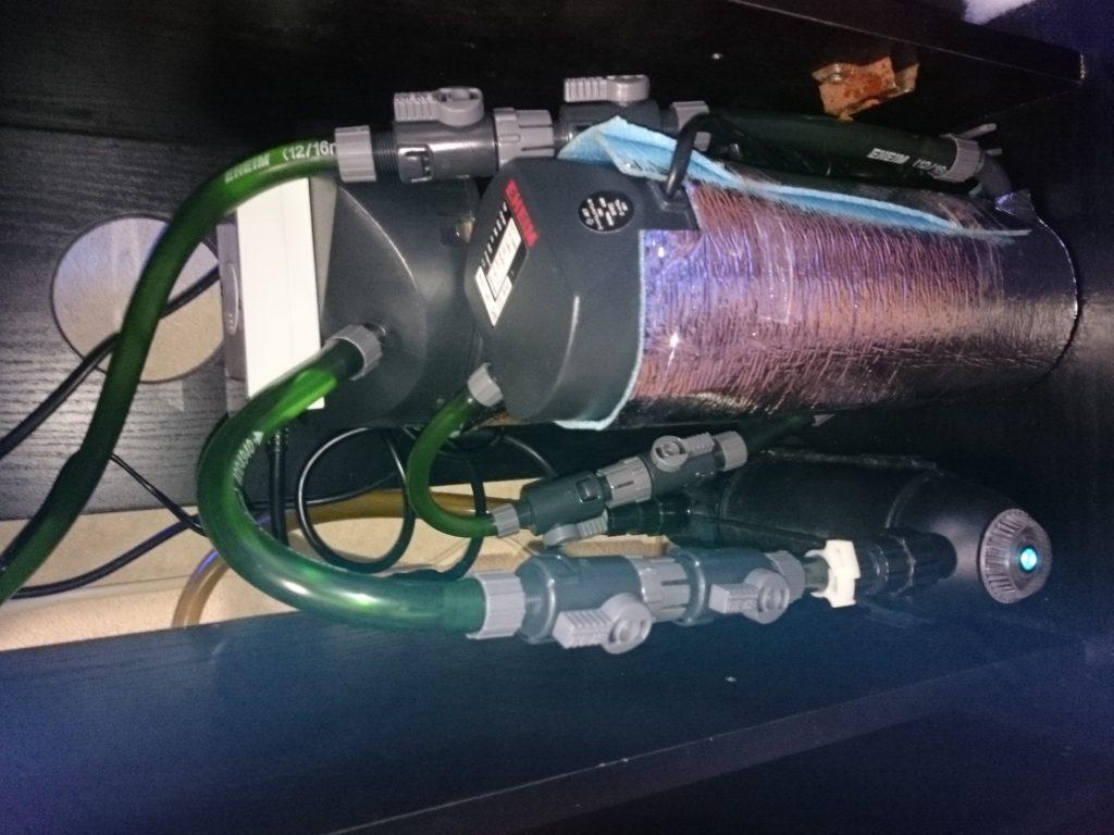 エーハイム2213ビルトインヒーター設置
