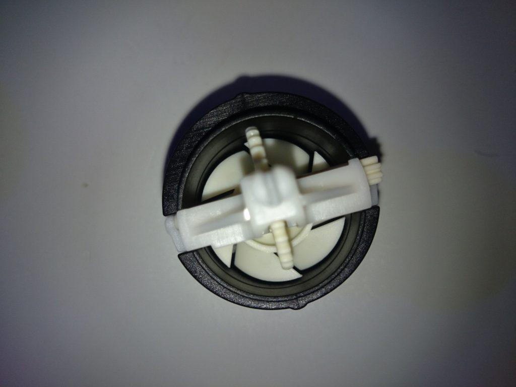 HYDORフロー回転式ディフレクターの内部構造