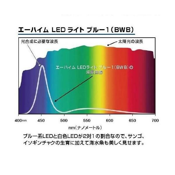 エーハイムLED ブルー1(BWB)の分光スペクトル