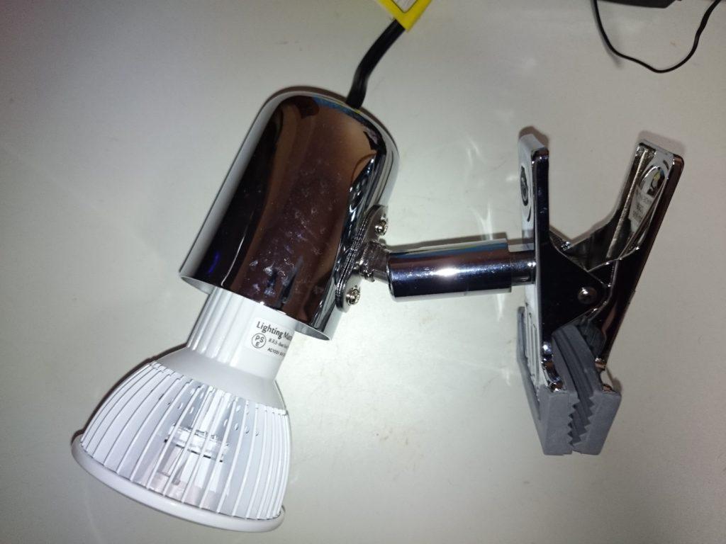 レディオクリップS クロームの照射角調整機能1