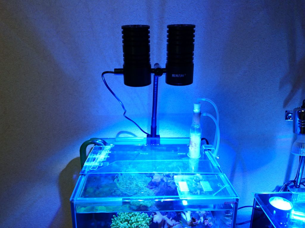 Marine LED light coral SPS LPS grow mini nano aquarium sea reef tank white blue purple hang on bend fix 設置2